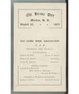 1903 Marlow NH Old Home Day celebration program ephemera paper antique v... - $14.00