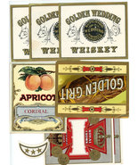 8 advertising labels whiskey cigar liquor vintage crafts paper ephemera  - $9.99