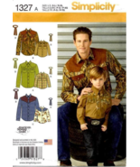 Simplicity 1327 Boys' and Men's Western Shirt and Tie Sewing Pattern   - $10.95