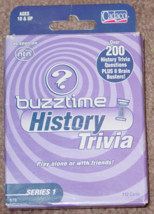 Buzztime History Trivia Card Game Series 1 2004 Cadaco Lightly Used - $4.00