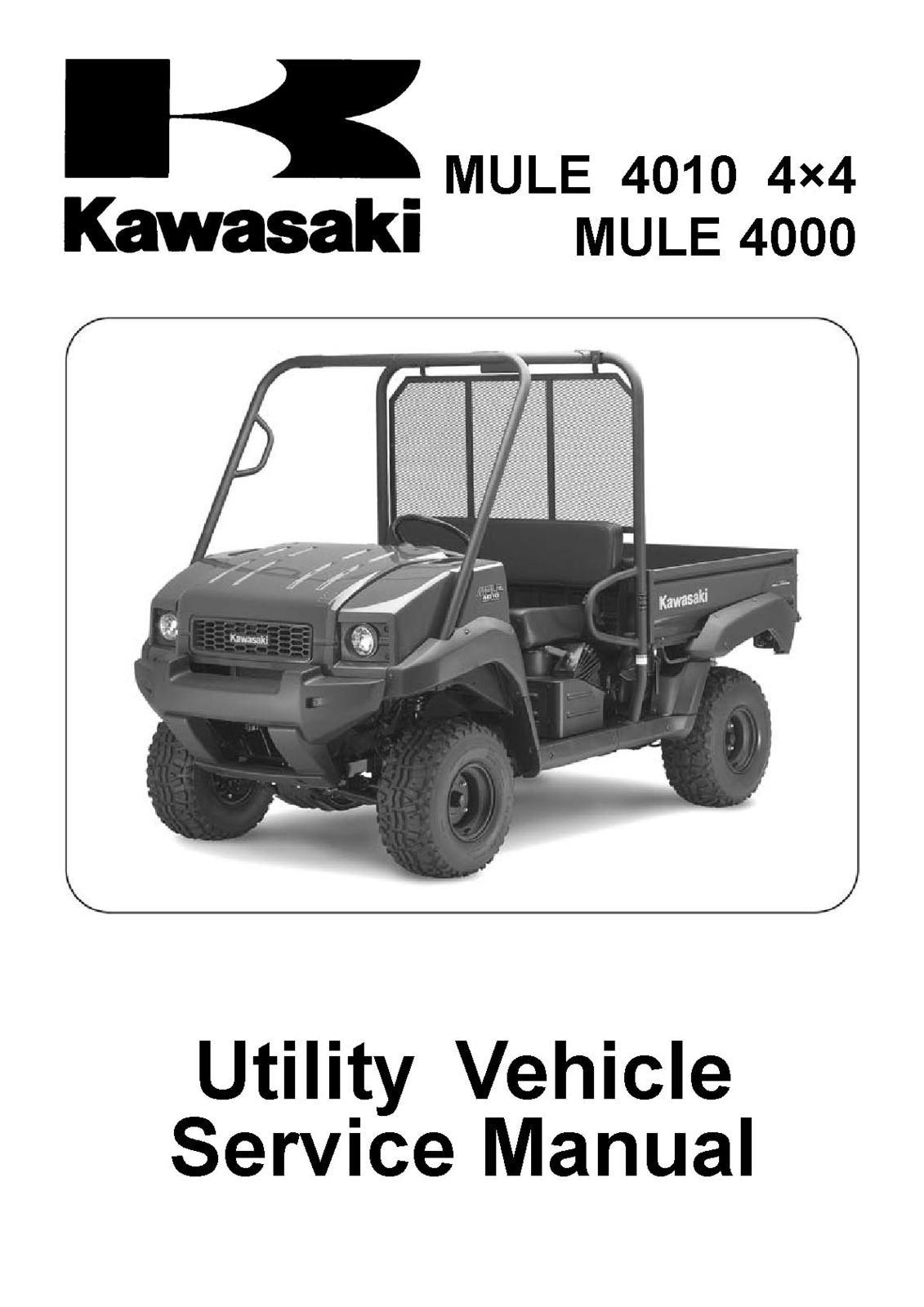Kawasaki Mule 4000 Wiring Diagram Residential Electrical Symbols For 610 4010 4x4 Shop Service And 44 Similar Items Rh Bonanza Com 2007