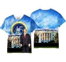 Donald Trump 45th President Stati Uniti USA Uomo Sublimazione Camicia V6... - $20.91+