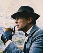 Sherlock Holmes Jeremy Brett Vintage 11X14 Color TV Memorabilia Photo - $12.95