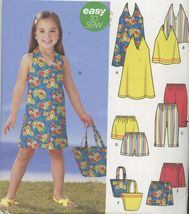 Girls Summer Outfits Simplicity 5531 Sz 3 to 8 Chest 22 to 27 Uncut - $2.00