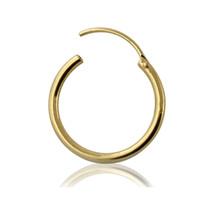 9KT Solid Yellow Gold 16 Gauge ( 1.2MM ) Segment Hoop Nose Ring - $14.00