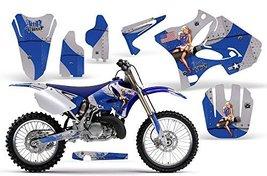 T-Bomber-AMRRACING MX Graphics decal kit fits Yamaha YZ 125/250 (2002-2013)-Blue - $158.35