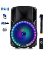 beFree Sound 12 Inch Bluetooth Rechargeable Portable PA Party Speaker wi... - $135.52
