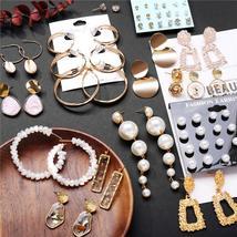 17KM 2019 New Fashion Earrings Gold Drop Earrings For Women Round Shell ... - $4.90+
