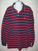 Polo by Ralph Lauren Navy/Red/White Striped Polo Size 12/14 Boy's EUC - $16.91