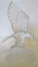Majestic Glass Eagle Figurine Detailed - $49.00