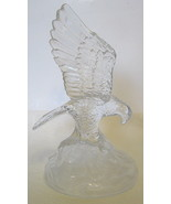 Majestic Glass Eagle Figurine Detailed - $49.00