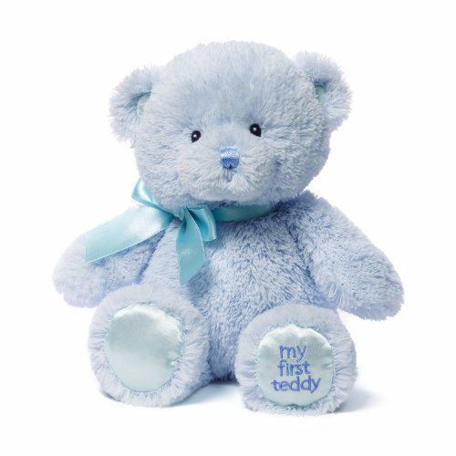 Gund Baby Gund My 1st Teddy Plush Toy, Blue, 10""