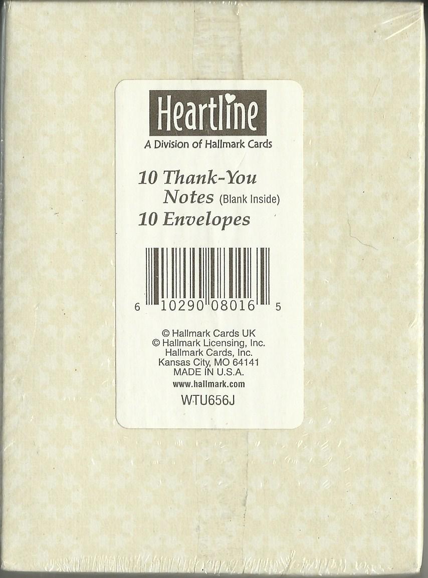 Set Of 10 Heartline Hallmark Thank You Cards And 48 Similar Items