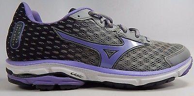 Mizuno Wave Rider 18 Women's Running Shoes Size US 9.5 M (B) EU 40.5 Gray Purple