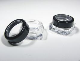 Cosmetic Containers Wholesale 200 Square Jars Black Rim Acrylic Lid 5 Gram #3039 - $159.95