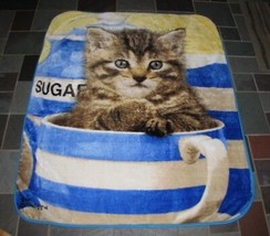 The Northwest Company Greg Cuddiford Kitten in Cup Cat Plush Throw Blanket - $69.29