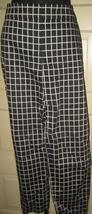 Ann Taylor Black Grid Flat Front Capri Pants Slacks 6 - $11.11