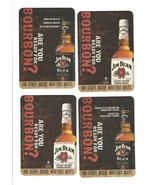 Set of 4 vintage drink coasters - JIM BEAM - ARE YOU READY FOR BOURBON? - $5.00