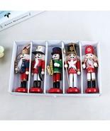 VOILEY® New Year Decor Kids Doll 1Pcs 12cm Wooden Nutcracker Soldier Mer... - $3.94