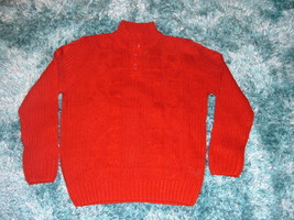 Mens red long sleeve sweater by Johnny J Dark red long sleeve sweater XL 2X - $18.99