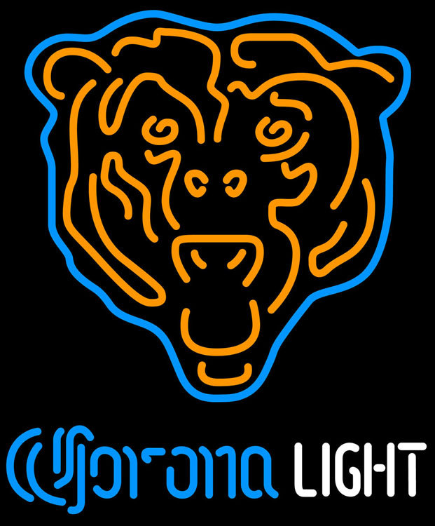Corona Light NFL Chicago Bears Neon Sign - Neon