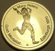 Large Gem Unc Mary Peters~Gold Medalist Medallion~Excellent~Free Shipping - $7.83