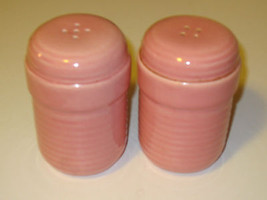 "Salt & Pepper Shakers 4"" Tall Rose Pink Porcelain Stove Range Top  - $10.84"