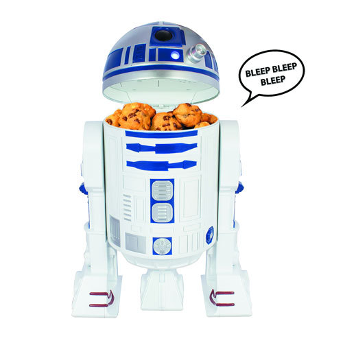*Star Wars R2D2 Talking Cookie Jar with R2D2 trademark beeping sounds*