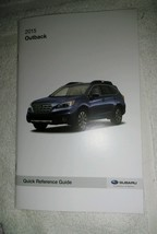 2015 Subaru Outback Quick Reference Guide Owners Manual Supplement NEW - $9.49