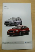 2015 Subaru Impreza Quick Reference Guide Owners Manual Supplement NEW - $9.49