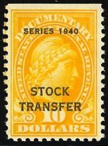 RD59, Mint Never Hinged $10 Stock Transfer Stamp Cat $250.00 - Stuart Katz - $175.00