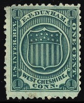 RO72d, E.P. Dunham Match Stamp - Small thin - Cat $90.00 - Stuart Katz - $70.00