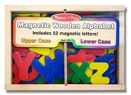 Alphabet Wooden 52 Magnets-in-a-Box Gift Set + FREE Melissa & Doug Scratch Ar... - $19.55