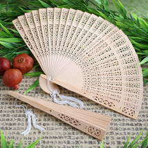 Sandalwood Fans Asian Wedding Favor Gift Fan Party Beach Reception Folding - $2.08