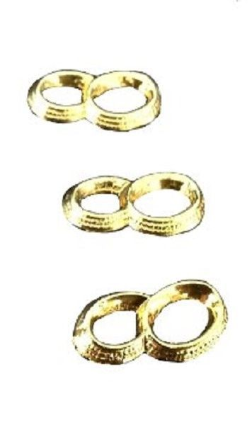 24 Gold color Capias Mini Charms For Wedding Shower  Favors - Wedding Rings