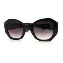 Womens Sunglasses Oversized Unique Diamond Cut Frame High Fashion Eyewear - $8.95