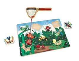 Melissa & Doug Deluxe 10-Piece Magnetic Bug Catching Game - $9.65