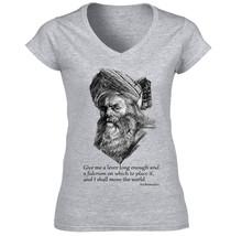 Archimedes   New Cotton Grey Lady Tshirt - $25.79