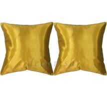 Set 2 Silk Throw Decorative Pillow Cases - GOLD - $13.99