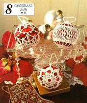 X034 Crochet PATTERN ONLY 3 Crochet Christmas Ball Ornament Cover Pattern - $12.50