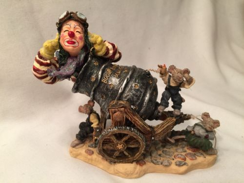Boyds Wee Folkstones #36403 Boom Boom Magee, 1st E WHIMSICAL Live Clown Canon