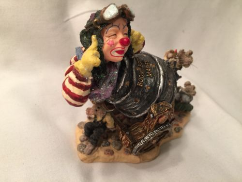 Boyds Wee Folkstones #36403 Boom Boom Magee, 1st E WHIMSICAL Live Clown Canon image 3