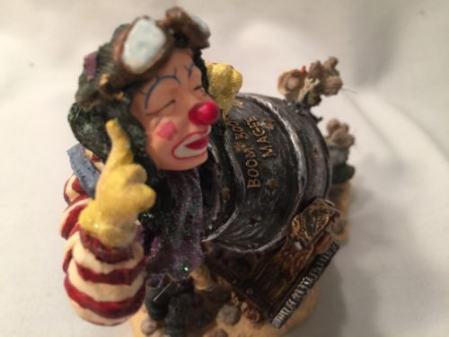 Boyds Wee Folkstones #36403 Boom Boom Magee, 1st E WHIMSICAL Live Clown Canon image 10