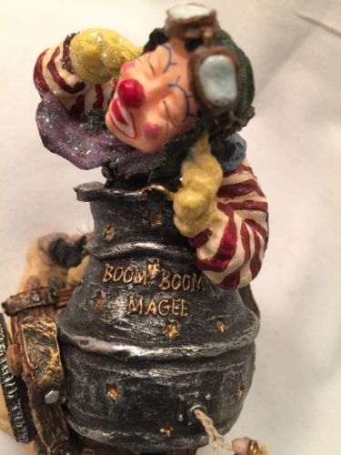 Boyds Wee Folkstones #36403 Boom Boom Magee, 1st E WHIMSICAL Live Clown Canon image 11