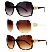 SA106 Womens Flower Jewel Hinge Oversize Butterfly Designer Sunglasses - $12.95