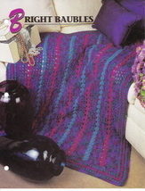 Bright Baubles Crochet Afghan Pattern Annie's Crochet Quilt Afghan Club - $5.50