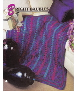 Bright Baubles Crochet Afghan Pattern Annie's Crochet Quilt Afghan Club - $5.50