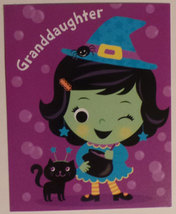 "Greeting Halloween Card ""Granddaddaughter"" Hope your Halloween bubbles o... - $1.50"