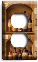 TUSCAN KITCHEN ITALIAN DINING WINE BOTTLE CELLAR DUPLEX OUTLET WALL PLAT... - $8.99