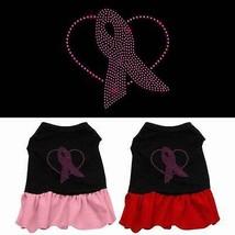 PINK RIBBON Rhinestone Dog Dress * Breast Cancer Awareness Pet Puppy Lov... - $14.84+